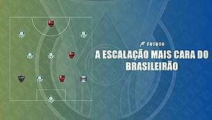 A escalação mais cara com jogadores do Brasileirão